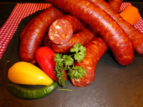 Paprika-Würstchen (1 Paar)