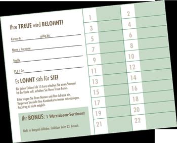Kundenkarte bei der Metzgerei Dörrich